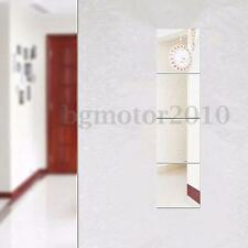 16pcs Mirrors Mosaic Tiles Self Adhesive Wall Stickers Square Decal Decor New