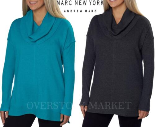 NEW WOMENS MARC NEW YORK ANDREW MARC PERFORMANCE FLEECE COWL NECK TUNIC VARIETY