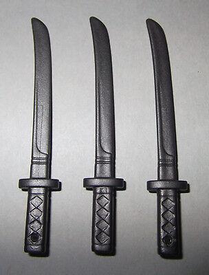 21073, 3x, Spada Katana, Samurai, Ninja, Antracite-