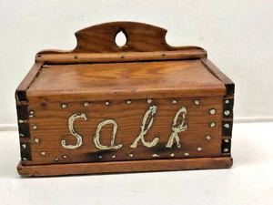 Heart Pine Wall Hanging Salt Box