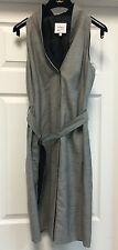 Akris Punto Solid Gray Pencil Knee-Lenght Sleeveless Casual Dress Sz S $1k+