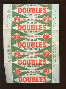 Details About 1951 Topps Red Back Baseball Card 1 Cent Wax Wrapper