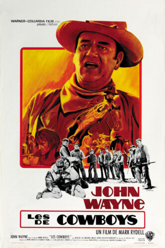 John Wayne movie poster print 1972 The Cowboys