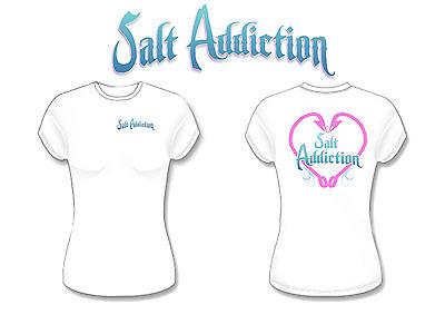 Salt Addiction Fishing t shirt Saltwater  Ocean beach fish life apparel