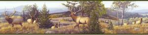 Wallpaper-Border-Elk-Mountain-Portrait-Wallpaper-Green-Trim