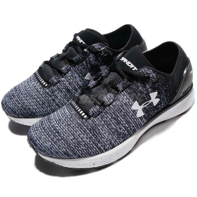 buy online 17839 56cdc Under Armour Charged Bandit 3 III UA Black Blue Women Running Shoes  129866-4003