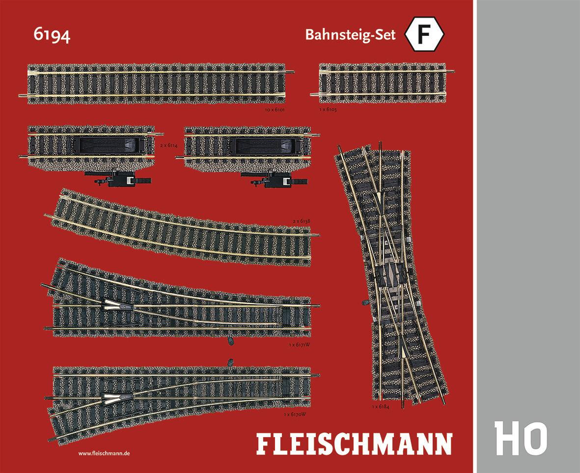 Fleischmann h0 6194 Profi-vía  andén-set f  - nuevo + embalaje original