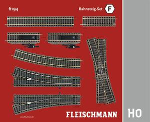 Fleischmann-H0-6194-Profi-Gleis-034-Bahnsteig-Set-F-034-NEU-OVP