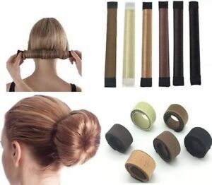Hair-Bun-Maker-Donut-Styling-Bands-Former-Foam-French-Twist-Magic-DIY-Tool