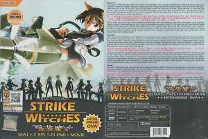 ANIME-DVD-Strike-Witches-Season-1-2-1-24End-Movie-OVA-Eng-sub-FREE-CD