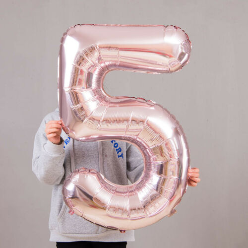 Giant Foil Number Helium Large Baloon Birthday Party Wedding Decor Rose Gold SY