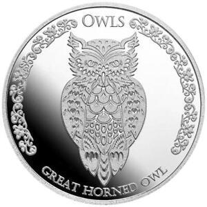 Tokelau 5 Dollar 2021 - Virginia-Uhu (1.) - Premium-Anlagemünze - 1 Oz Silber ST