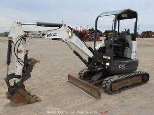 2014-Bobcat-E26-Mini-Hydraulic-Excavator-Rubber-Tracks-Aux-Thumb-Diesel-bidadoo