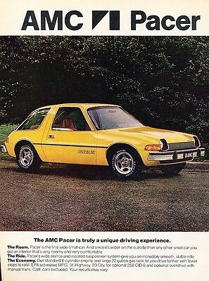 1976 American Motors AMC Pacer 2-page Original Advertisement Print Car Ad J538