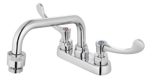 """6/"""" Laundry Sink Tub Faucet Polished Chrome Swivel Spout Easy Use 2 Wing Handle"""