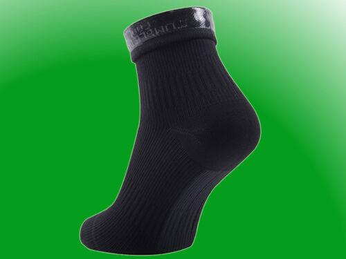 wasserfeste Socken Seal Skinz wasserdichte Road Ankle with Hydrostop black
