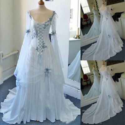 vintage celtic wedding dresses medieval bridal gowns scoop