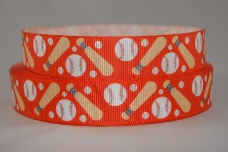 Webband Borte 1314 Baseball Rot 22mm Ripsband