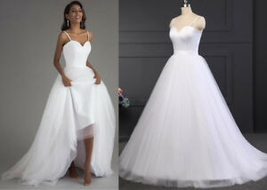 4197f6fb87ba Image is loading Spaghetti-Strap-Beach-Wedding-Dresses-Simple-White-Bridal-