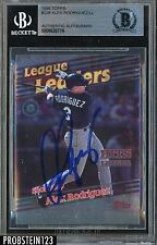 1999 Topps #228 Alex Rodriguez Seattle Mariners Signed AUTO BGS BAS