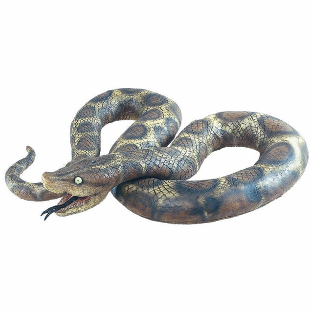 7 Foot Python Large Rubber Scary Realistic Snake Halloween Prop Fancy Dress