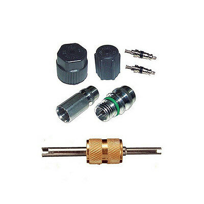 A//C AC System Valve Core and Cap Schrader Remover Kit fit Ford Aerostar MT2907
