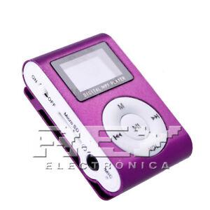 Reproductor MP3 CLIP con Pantalla LCD Color Plata d49