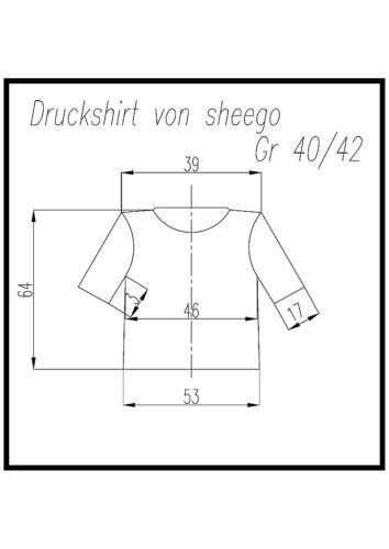 "señora camisa de impresión de /""sheegoo/"" talla 40//42 hasta 52//54 naranja"