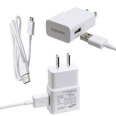New Genuine Samsung 2A Galaxy S4 IV i9500 i9505 Travel Wall Charger w USB Cable