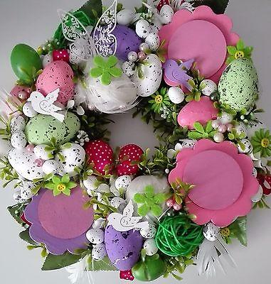 Easter Wreath Eggs Handmade Decoration