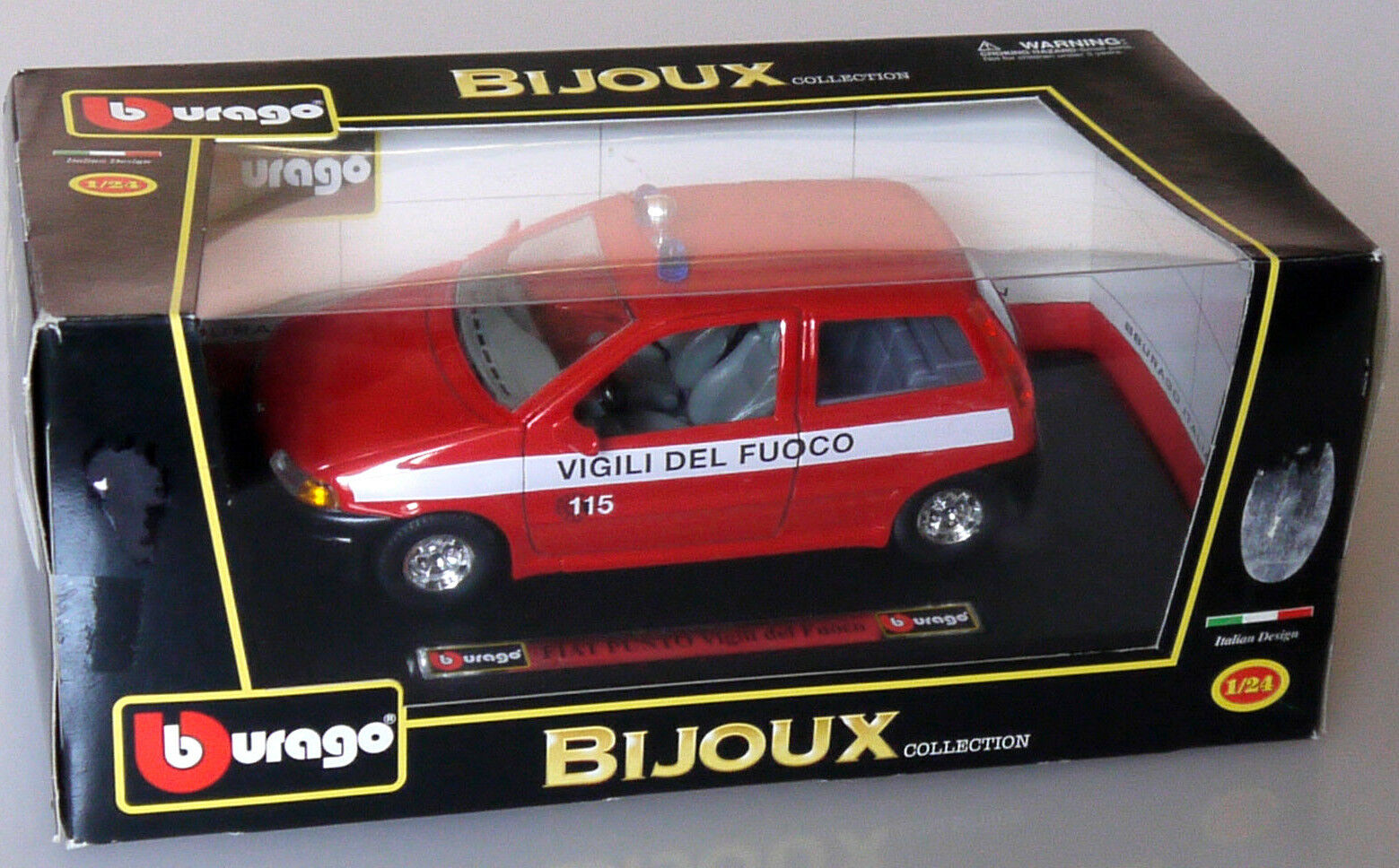 PRL) VIGILI DEL FUOCO VVFF POMPIERI BBURAGO BURAGO 1 24 METAL MODEL 15527 FIRE