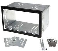 Universal Auto Radio Blende Einbau Schacht Rahmen 110mm Doppel DIN ISO Metall