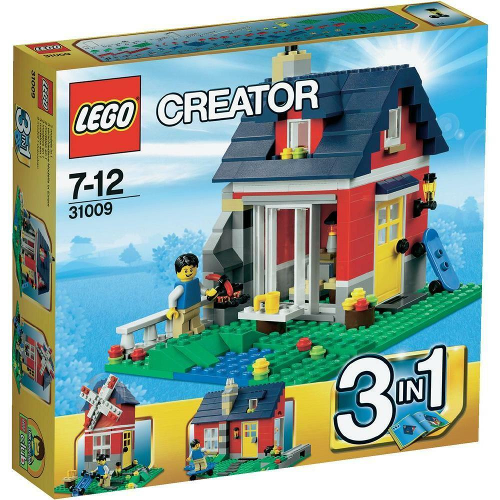 LEGO CREATOR PICCOLO COTTAGE 3 IN 1 7-12 ANNI RARO FUORI PRODUZIONE  ART 31009