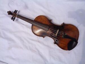 Ancien Violon Violon Full Size Ca 59,8 Cm Corpus Environ 35,8 Cm-afficher Le Titre D'origine Forfaits à La Mode Et Attrayants