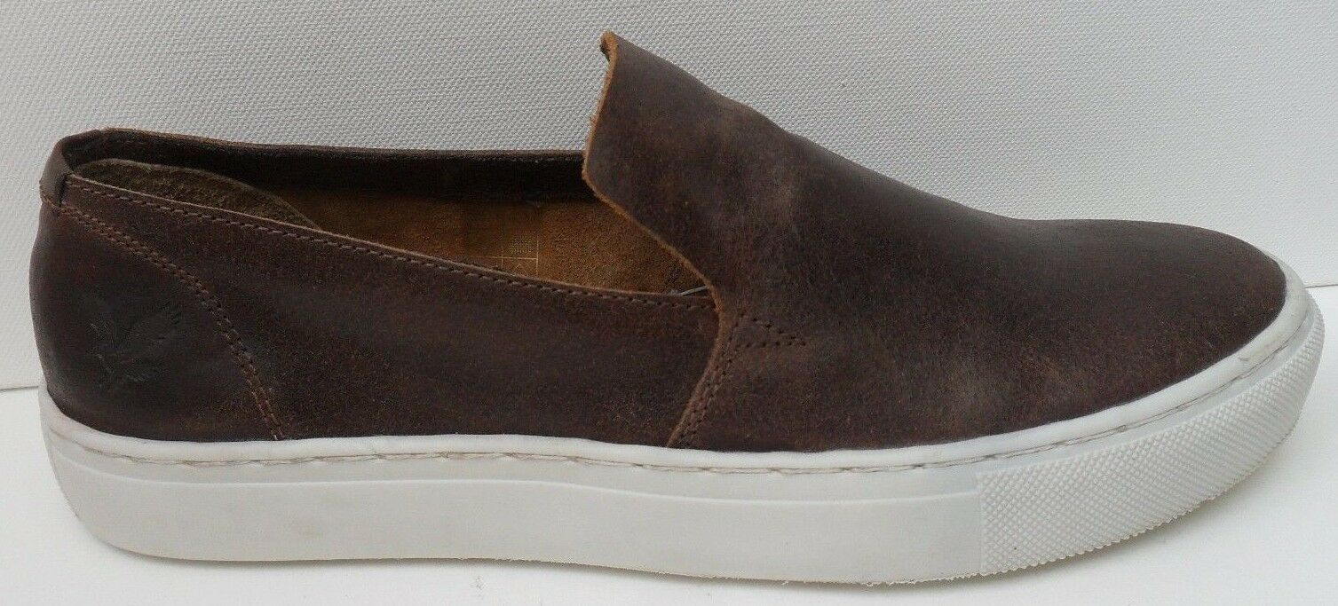 Mens Lyle & Scott Brown Leather Slip On shoes - Size