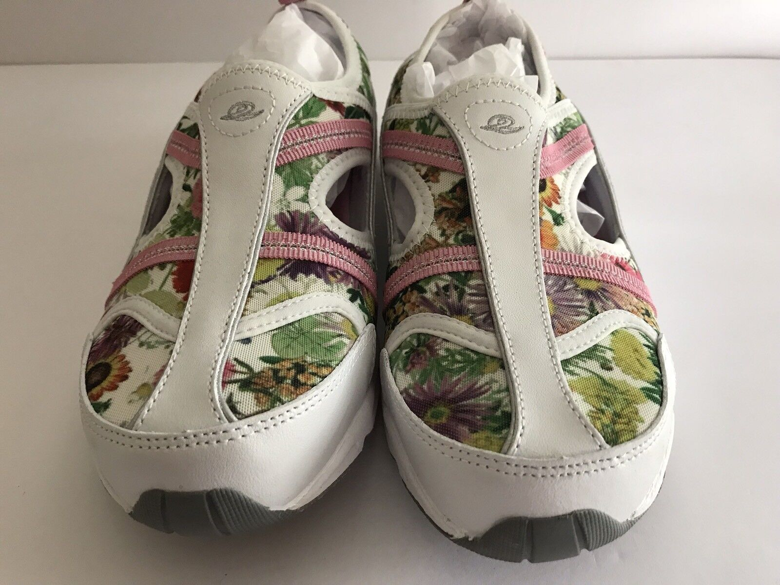 Easy Spirit Slingback Arobatic Multi Floral Pull On Athletic Shoe Size 8.5M