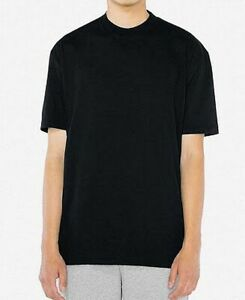 American-Apparel-Mens-T-Shirt-Black-Size-Large-L-Power-Wash-Crew-Tee-26-914
