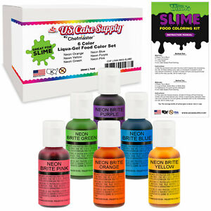 Details about 6 Color Liqua-Gel Slime Making Food Coloring Dye Kit -  Non-Toxic, Food Grade