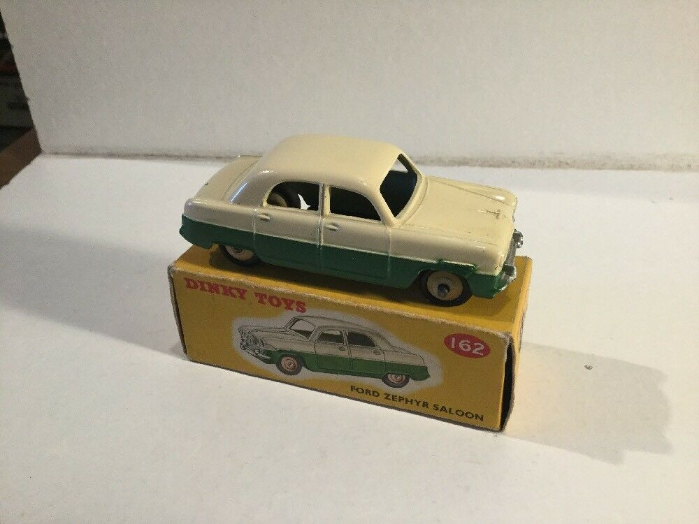 Vintage Dinky Toys Ford Zephyr Saloon 162 In Its Original Box Two Tone Colour