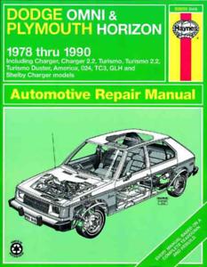 Haynes Workshop Manual Dodge Omni Plymouth Horizon 1978-1990 Service Repair