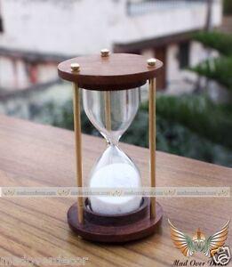 Antique Hourglass Nautical Maritime Handmade Decorative Brass Sand - Decorative-hourglass