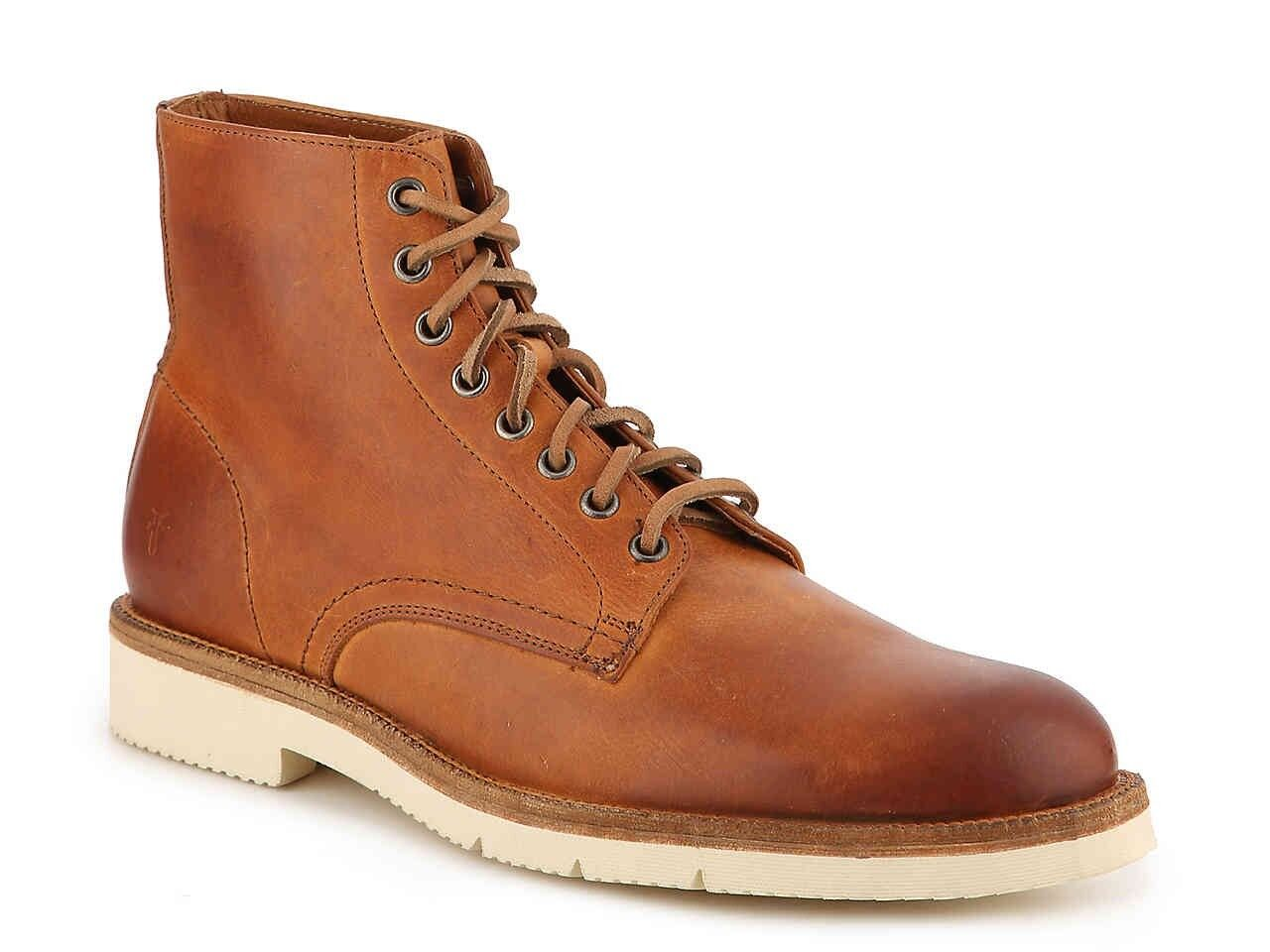 NIB FRYE Eric Lace-Up Vegetable Tanned Leather Boots RRP  575