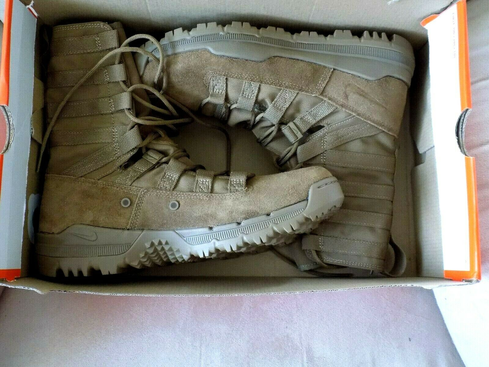 Nike Swoosh Just Do It Tan Brown Leather Men's Boots Boots Boots Size 10 New MSR  165 873247