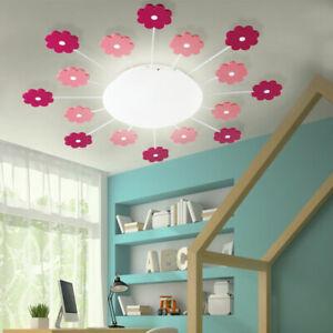 Details Zu Blumen Decken Lampe Pink Mädchen Spiel Zimmer Beleuchtung Kinder Wand Leuchte
