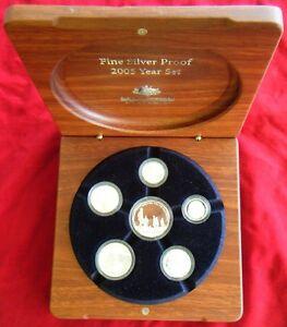 2005-Australia-Fine-Silver-Proof-Year-Set-End-of-WWII-Royal-Australian-Mint
