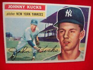 1956 TOPPS BASEBALL #88 -JOHNNY KUCKS - NEW YORK YANKEES - PITCHER