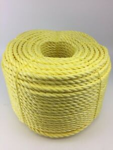Poly Rope Coils 10mm White Polypropylene Rope x 50 Metres Cheap Nylon Rope