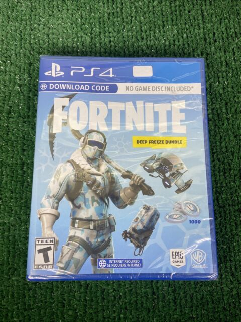 Fortnite Deep Freeze 2018 Bundle For PlayStation 4 PS$ Game Brand New Sealed