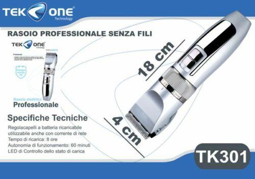 Rasoio Tagliacapelli TeKone Tk301 Professionale Cordless Ricaricabile hsb