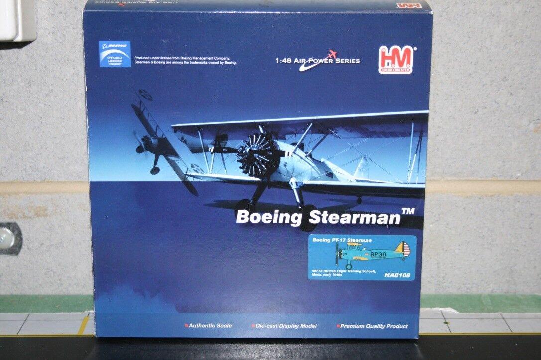 aquí tiene la última Hobby Master 1 48 US Army Boeing PT-17 Stearman (HA8108) (HA8108) (HA8108) Fundición Modelo de Avión  Garantía 100% de ajuste